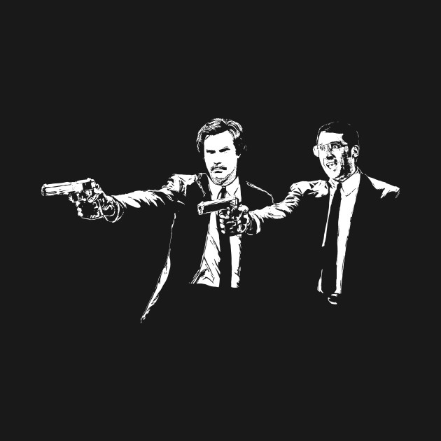 Anchorman Ron Burgandy And Brick Tamland Pulp Fiction