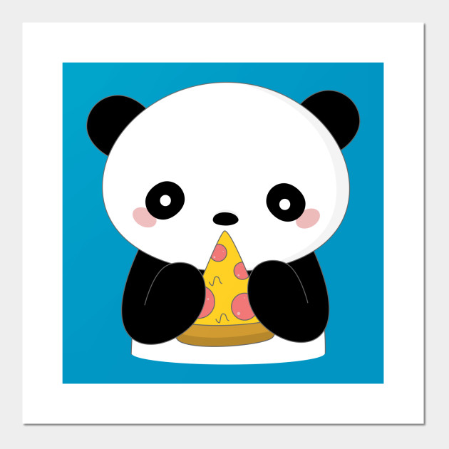 Kawaii Panda Loves Pizza T Shirt