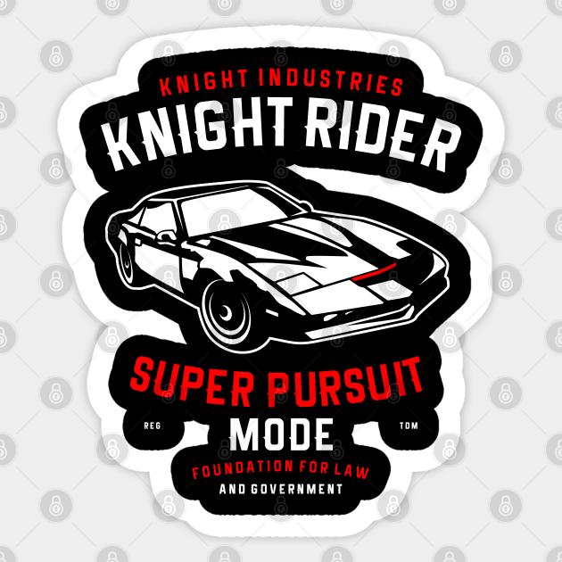 Knight Rider Knight Rider Sticker Teepublic
