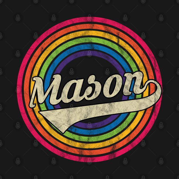 Mason - Retro Rainbow Faded-Style