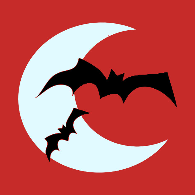 Bat Moon - Halloween Vector