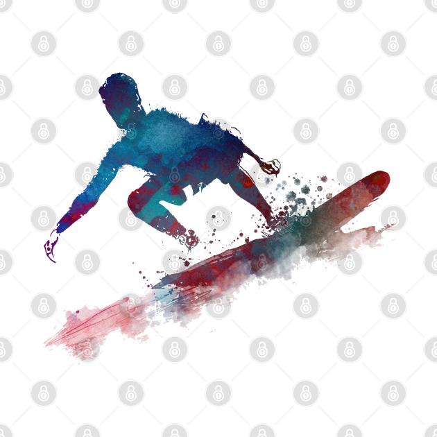 Surfer sport art