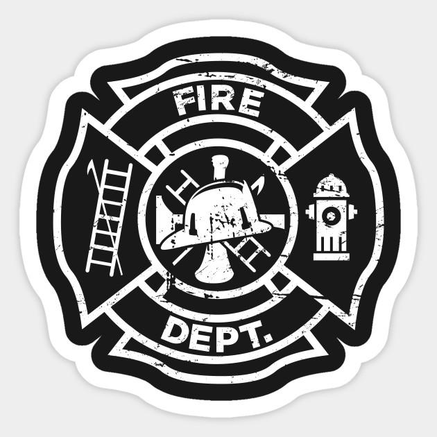 Attractive Firefighter Logo - Firefighter - Sticker | TeePublic LB28