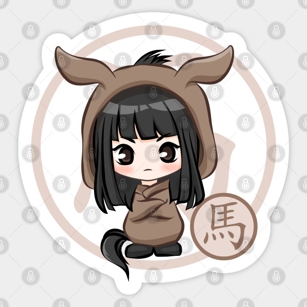 Sticker Chinese Horoscope Anime Year of the Horse Decal