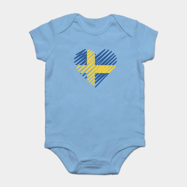 Swedish Sweden Flag Infant Bodysuit