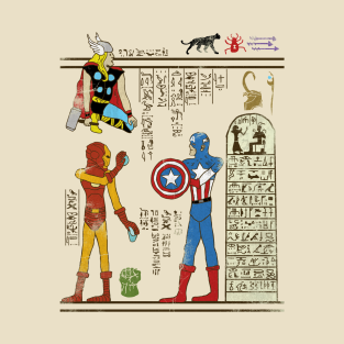 Hero-glyphics: Avengers t-shirts