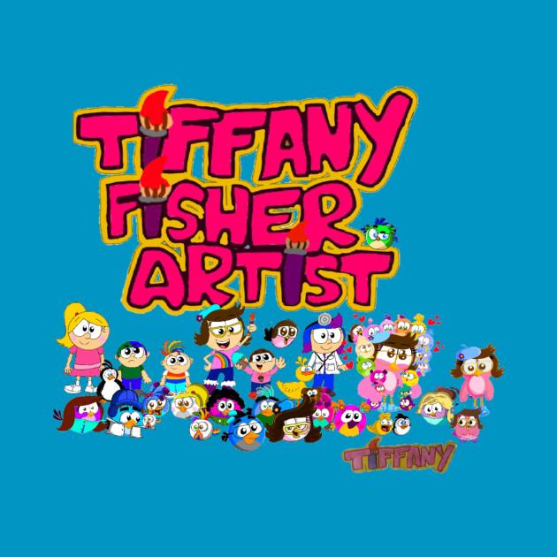 Tiffany Fisher Artist Logo with Cartoons
