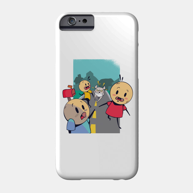 RUNNING FROM DOG Phone Case