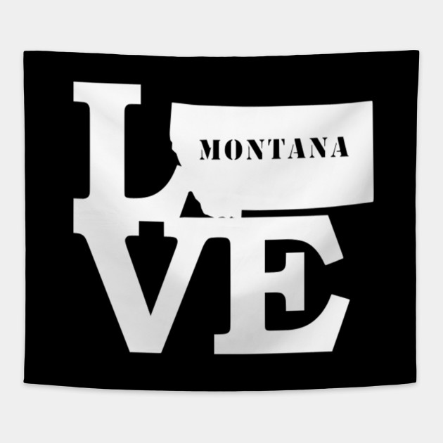 Montana Pride USA State Love Map Hoodie