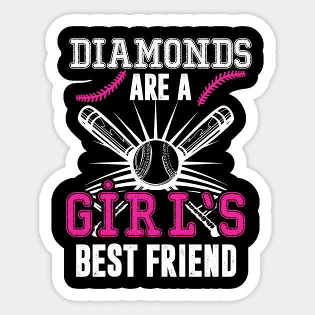 998425fa Softball T Shirt DIAMONDS ARE A GIRL'S BEST FRIEND - Softball ...