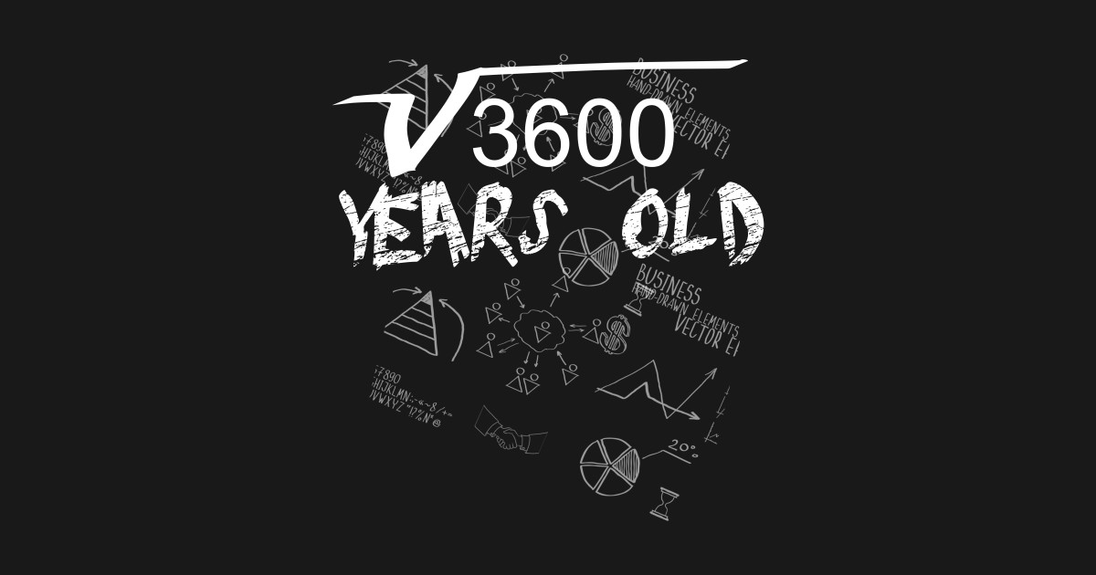 Square Root Of 3600 60th Birthday 60 Years Old Gift Tshirt Long Sleeve T Shirt