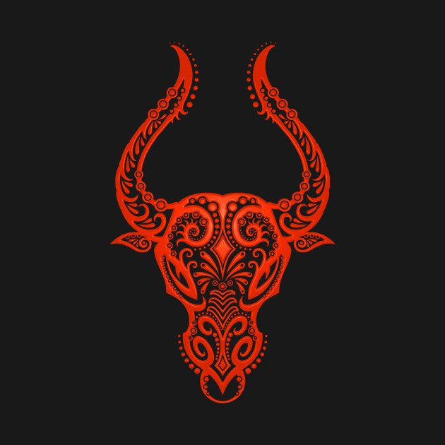 Image result for taurus zodiac sign in red