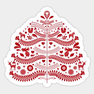 Swedish Folk Pattern Tags