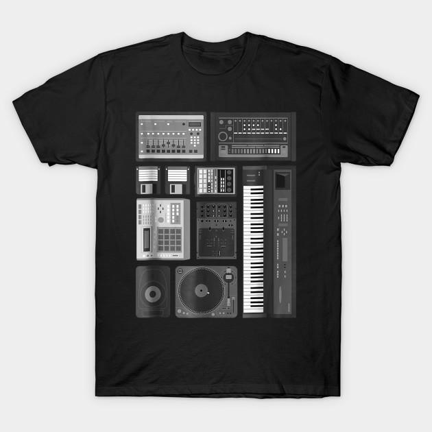 Old School Hip Hop Rap Music Beat Maker T-Shirt
