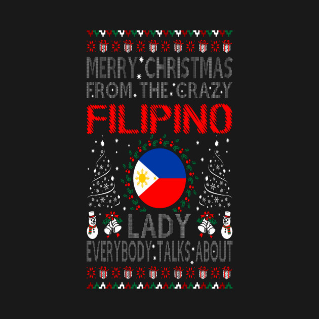 Merry Christmas From Filipino Lady Ugly Sweater .