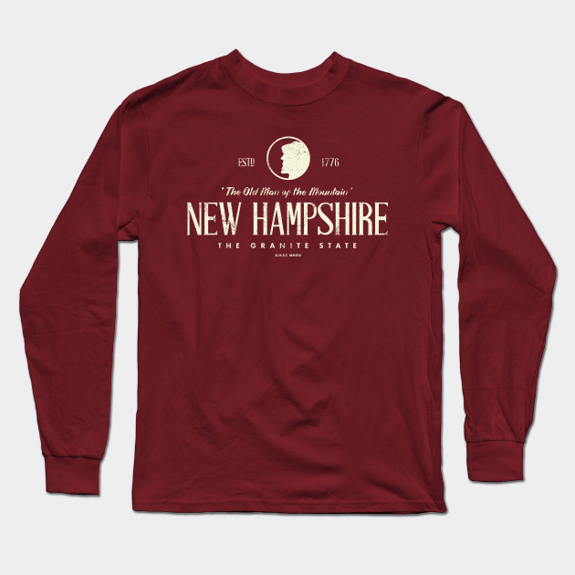 New Hampshire - The Old Man of the Mountain Long Sleeve T-Shirt