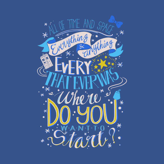 Image result for all of time and space quote