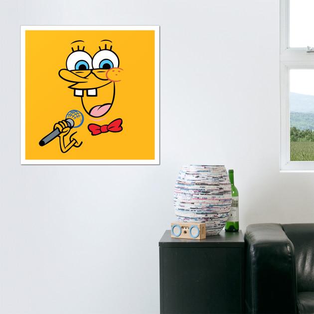 Singing Spongebob - Spongebob Squarepants - Posters and Art | TeePublic