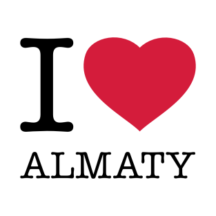 I LOVE ALMATY t-shirts