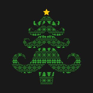 Manly Tree - Christmas Tree Mustache t-shirts