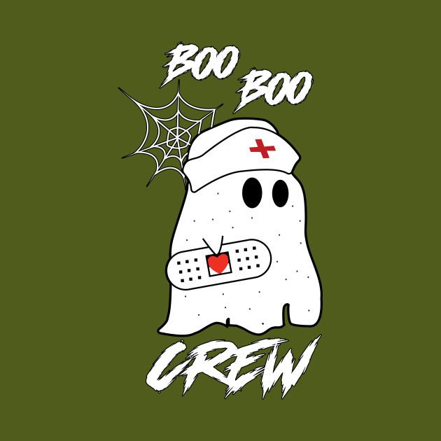 boo boo crew nurse ghost funny halloween gift