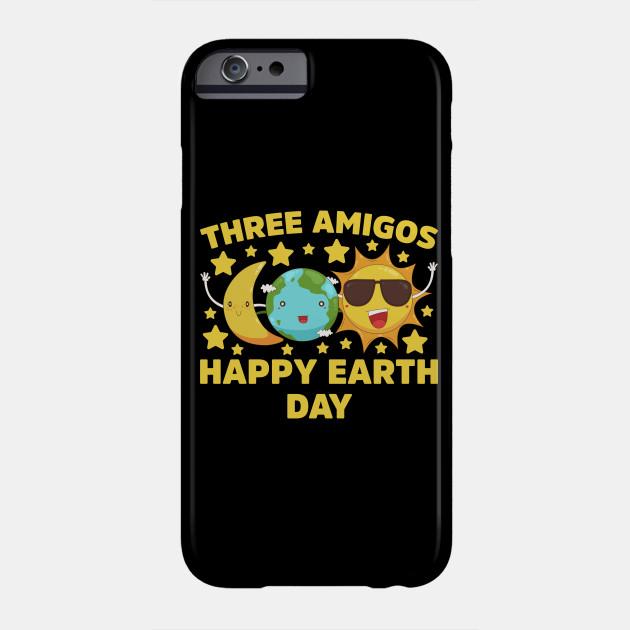 Moon Earth Sun Three Amigos Happy Earth Day print Phone Case
