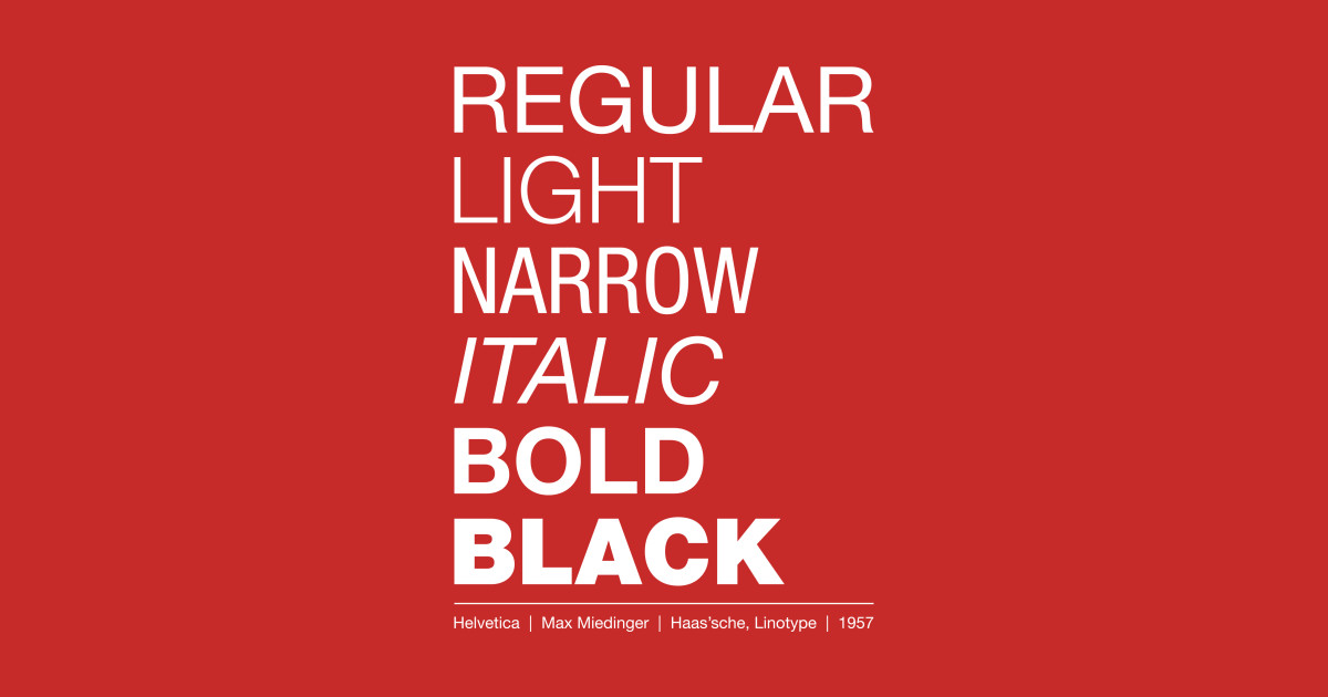 Helvetica Font by ax3