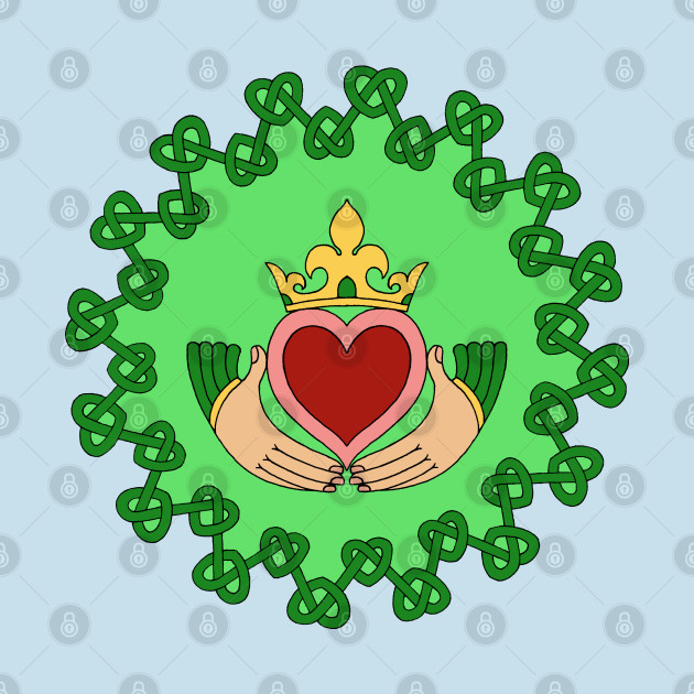 Claddagh and Green Knotwork