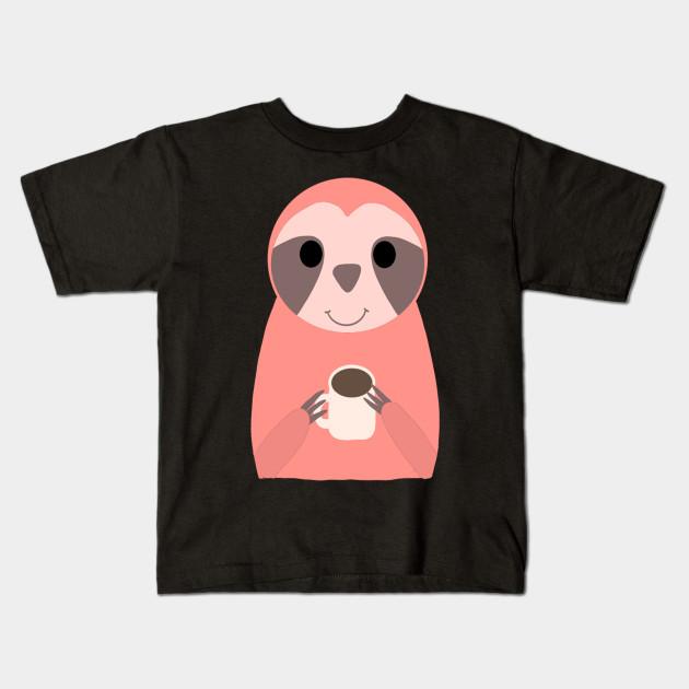 Sloth Pink Kids T-Shirt