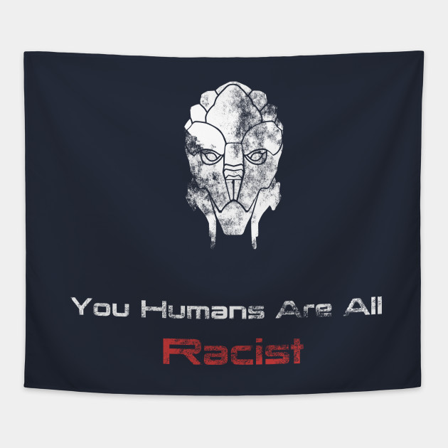Friendly Turian Mass Effect Tapestry Teepublic