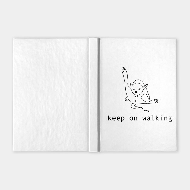 Keep on walking cat