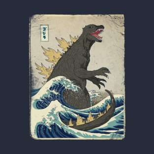 The Great Godzilla off Kanagawa t-shirts