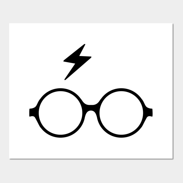 image regarding Harry Potter Glasses Printable known as Harry Potter gles and scar