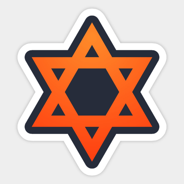 Warm Jewish Star of David