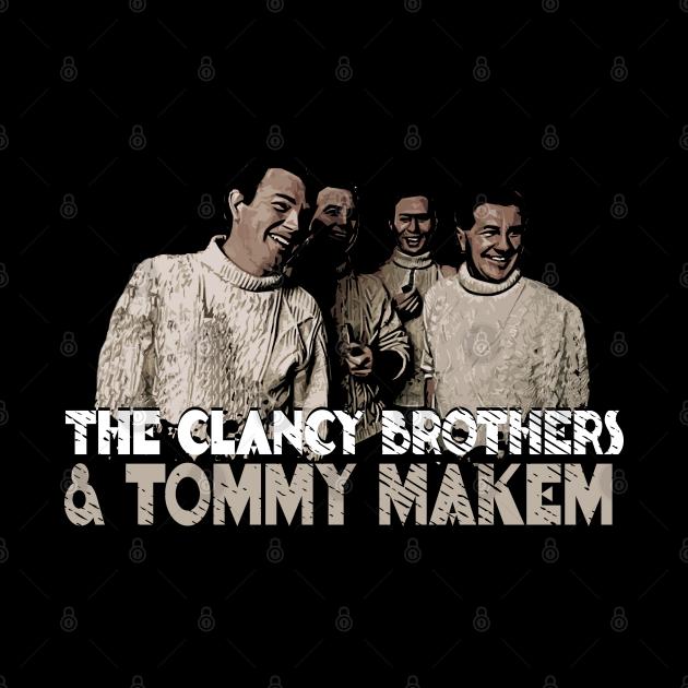 The Clancy Brothers & Tommy Makem Retro Fan Art