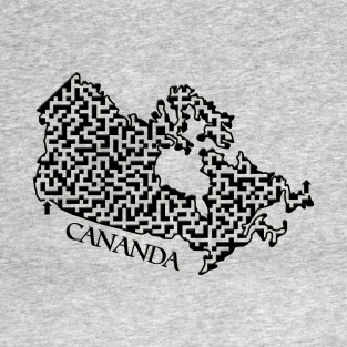Canada Outline Maze & Labyrinth t-shirts
