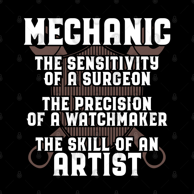 Mechanic/Craftsman/Artist/Precision/Gift/Present