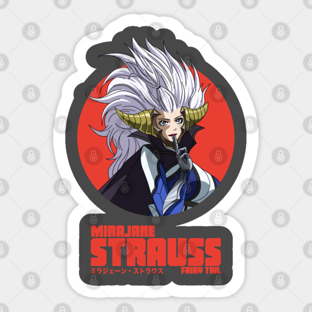 Mirajane Strauss Fairy Tail Fairy Tail Sticker Teepublic Want to discover art related to mirajanestrauss? mirajane strauss fairy tail