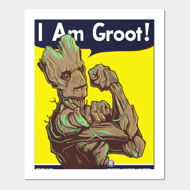 I Am Groot By Kindacreative