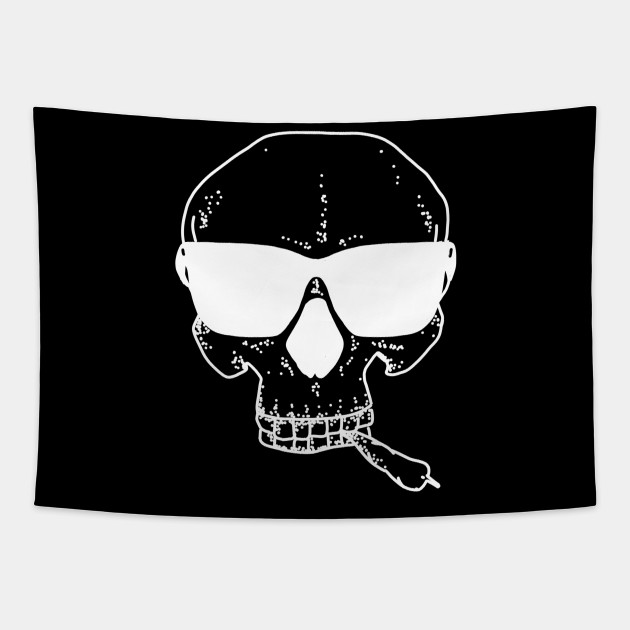 Funny Cool Skull with Glasses