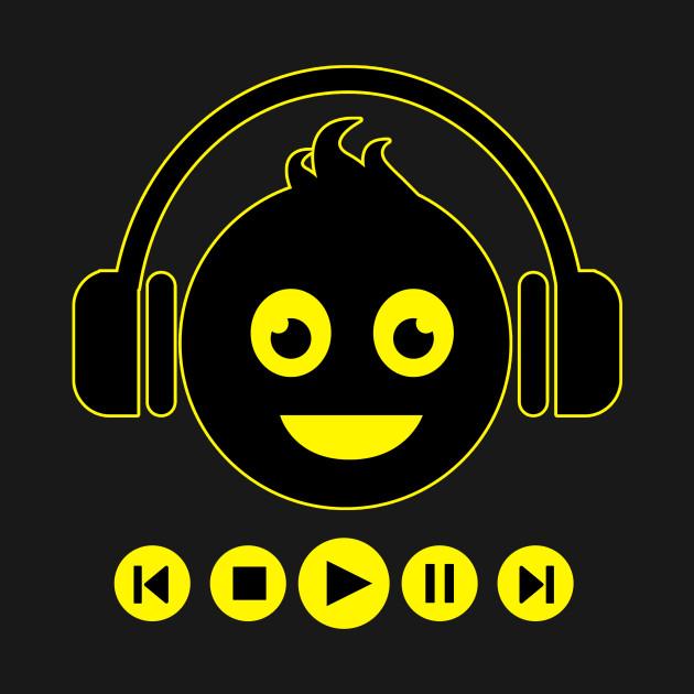 Emoji Headphones Play Music DJ by puertoroc173
