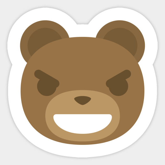 teddy bear emoji naughty look zoo sticker teepublic