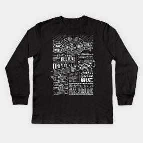 d212ed28 The World's Greatest High School #1 - White Text Kids Long Sleeve T-Shirt