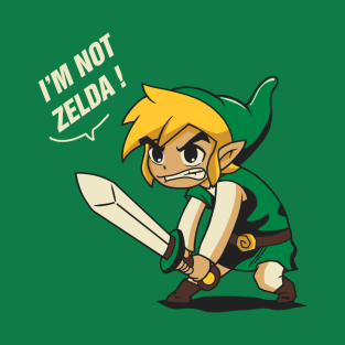 i'm not zelda t-shirts