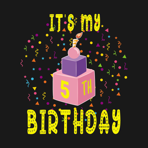 Birthday Shirt It Is My 5Th Blocks Bricks Gift Tee