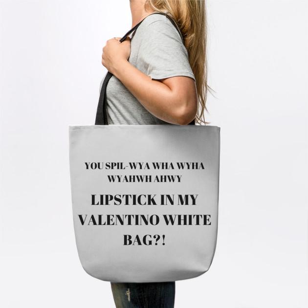 ddaa0ff936 LIPSTICK IN MY VALENTINO WHITE BAG - Vine - Tote
