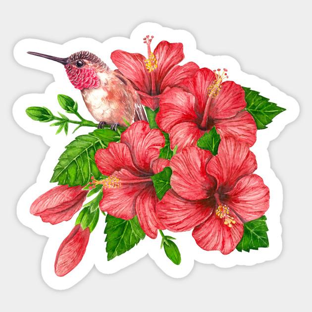 Tropical bouquet - Tropical - Sticker | TeePublic