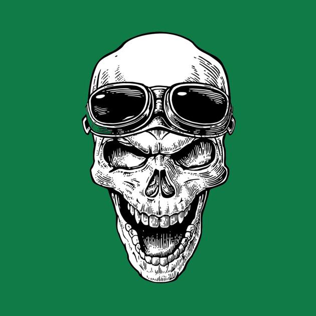 skull with glasses