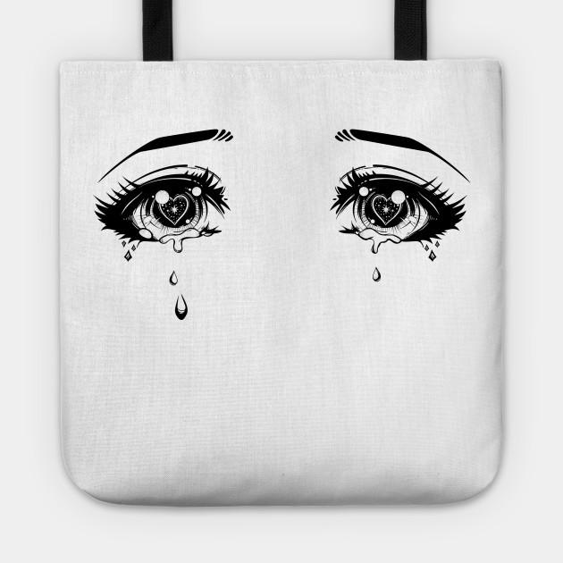 Crying Love Tote Anime BagTeepublic Eyes Uk fgb76y