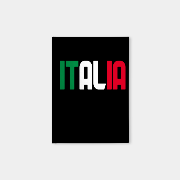 Italy name with flag